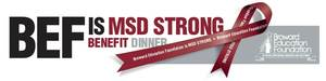 Broward Education Foundation Burgundy and Silver Benefit
