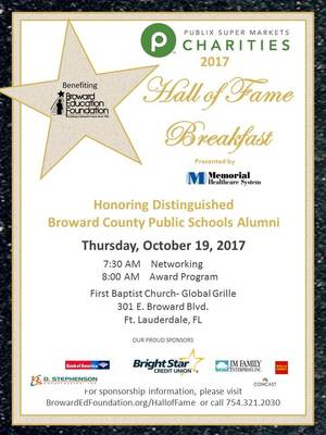 Broward Education Foundation Hall of Fame Breakfast