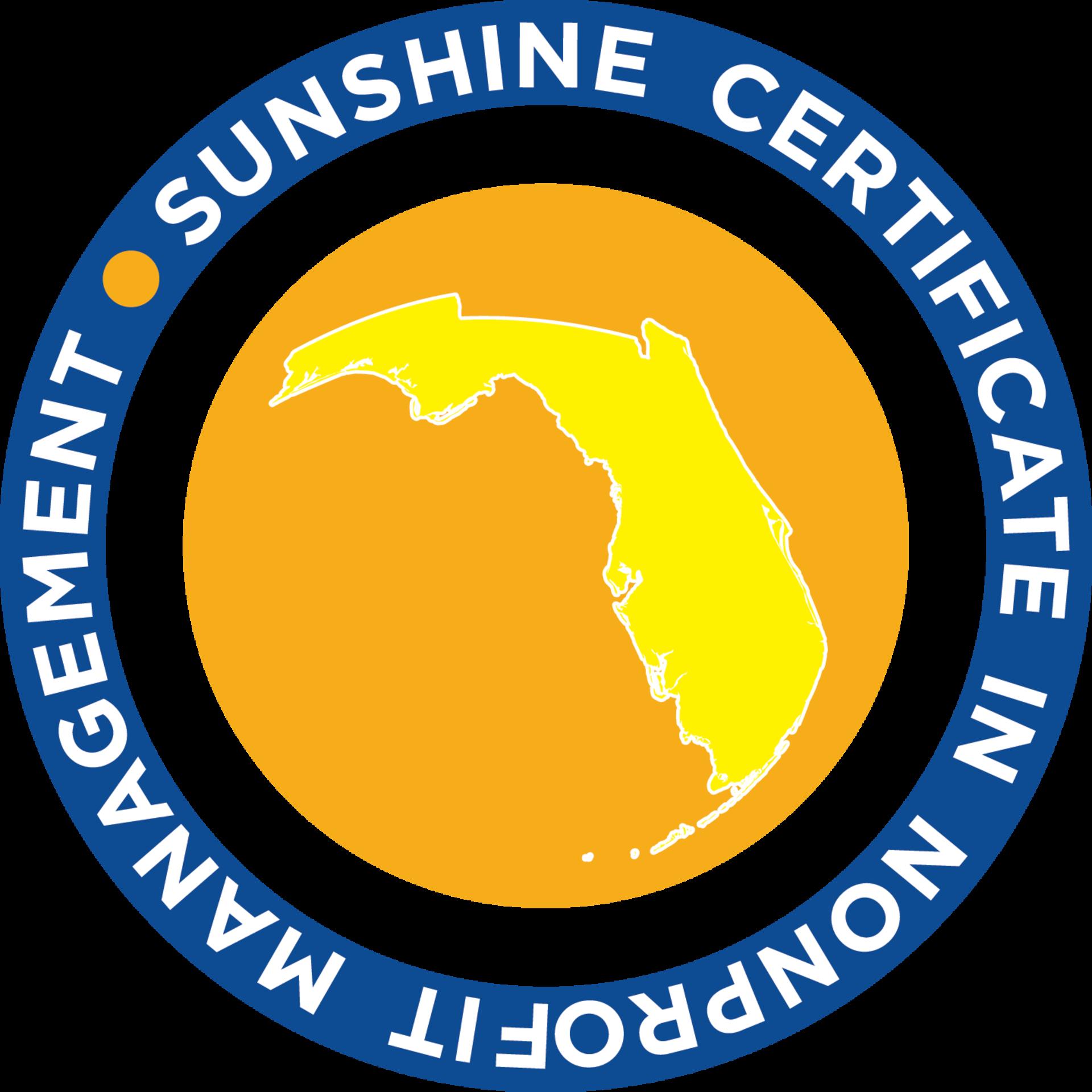 Florida Nonprofits' Sunshine Certificate in Nonprofit Management
