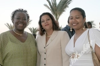 Michaelle Valbrun-Pope (2006 Principal of the Year), Nichole Linley and Michelle Cedeno (Teachers at North Side Elementary)
